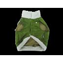 Áo khoác lông thú xanh rêu