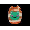 Áo con ếch cam