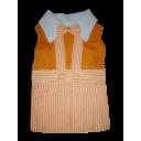 Đầm yếm sọc cam