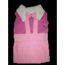 Đầm yếm sọc hồng
