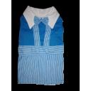 Đầm yếm sọc xanh dương