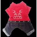 Áo Pull Jean Đỏ